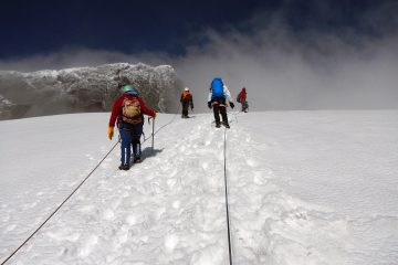 Climbing Rwenzoris